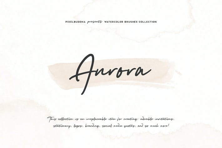 Cover Image For Aurora Watercolor Brushes Collection