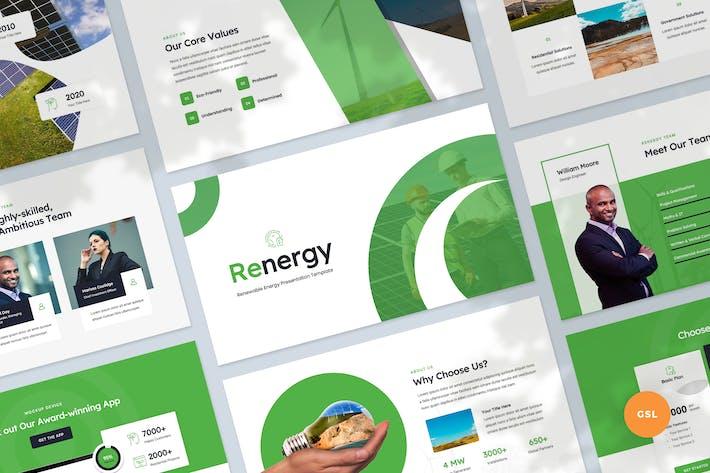 Thumbnail for Renewable Energy Slides Presentation Template