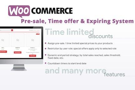 WooCommerce Pre-venta, oferta de Tiempo y sistema de caducidad