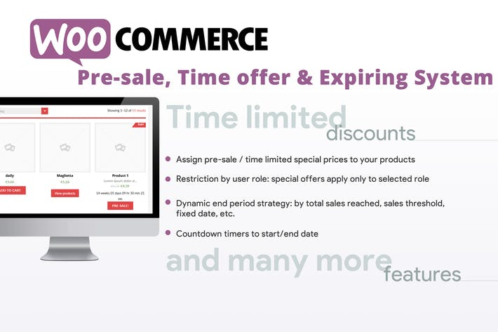 Thumbnail for WooCommerce Pre-sale, Time offer & Expiring System