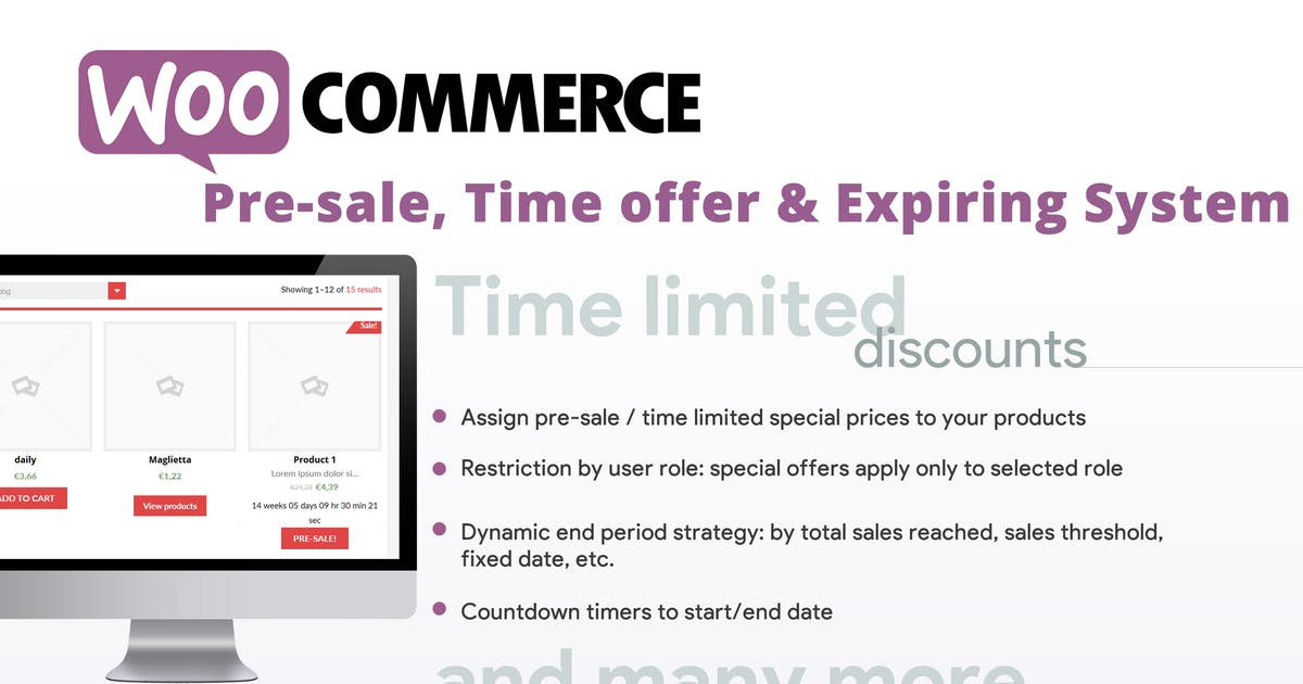 Download WooCommerce Pre-sale, Time offer & Expiring System by vanquish