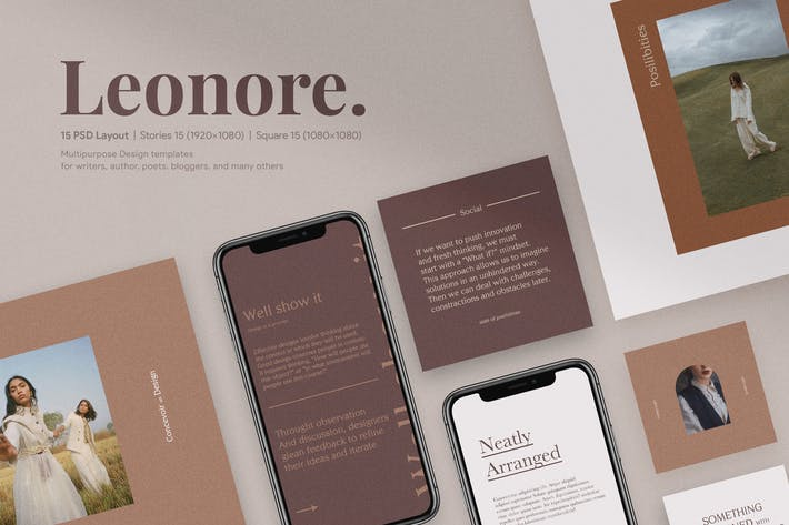 Leonore Social Media Templates