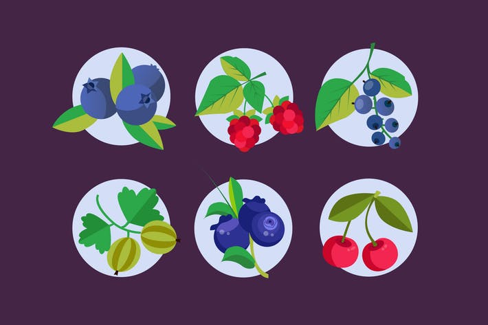 Thumbnail for Very Berries Badges