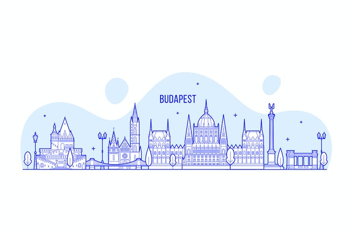 Thumbnail for Будапешт горизонт, Венгрия