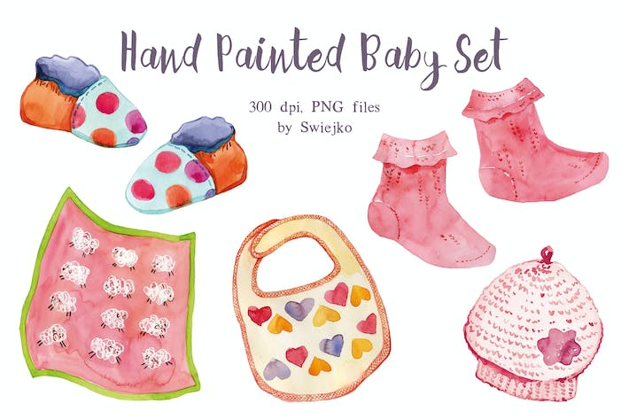 Thumbnail for Watercolor, Pink Baby Set