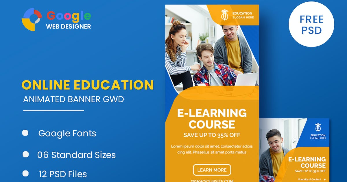 Download Business Courses Animated Banner GWD by IsLein