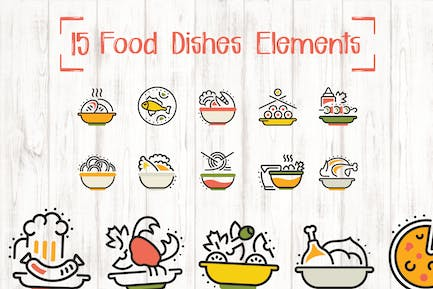 15 Food Dishes Elements