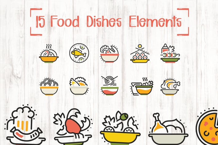 Thumbnail for 15 Food Dishes Elements