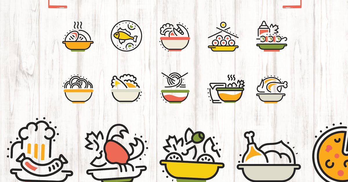 Download 15 Food Dishes Elements by Unknow
