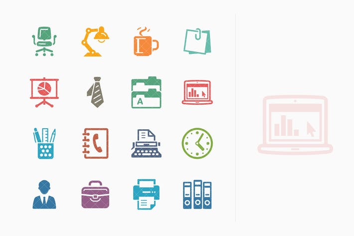 Thumbnail for Office Icons - Colored Series