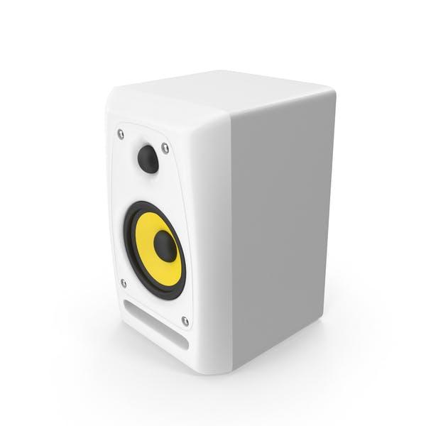 White Studio Monitor