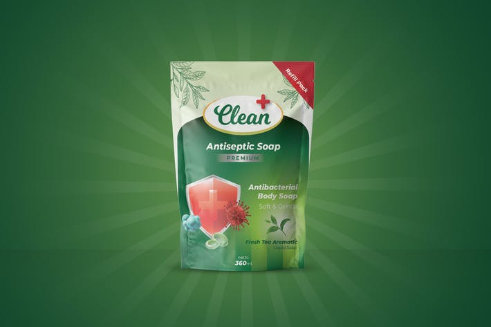 Thumbnail for Antiseptic Soap Refill Pouch Design