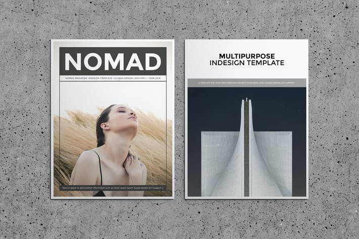 Thumbnail for Nomad Magazine Template