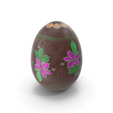 Huevo de Pascua diseño de chocolate