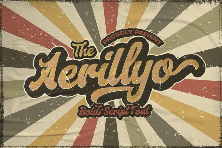 Thumbnail for Aerillyo - Retro Bold Script Font