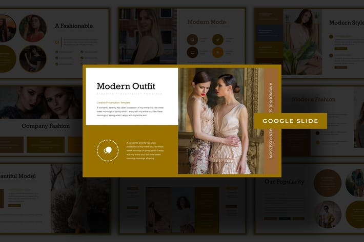 Thumbnail for Fashionate  - Google Slides Template