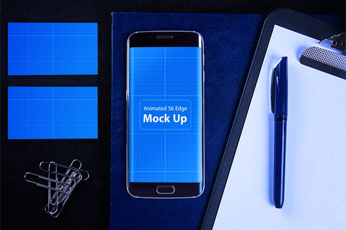 Cover Image For Animated S6 Edge MockUp V.2