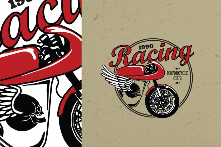 Thumbnail for Vintage Motorcycle Logo Badge
