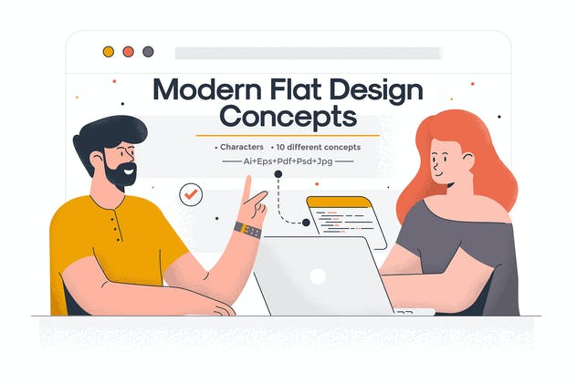 Modern Flat design People and Business concept