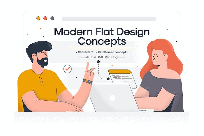 Thumbnail for Modern Flat design People and Business concept