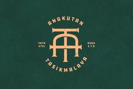 AT Vintage Monogramm Logo