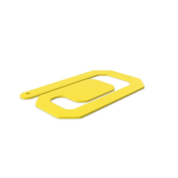 Plastic Paper Clips Yellow