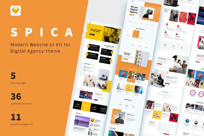 Thumbnail for SPICA - Website UI Kit