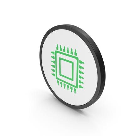 Icon Microchip Green