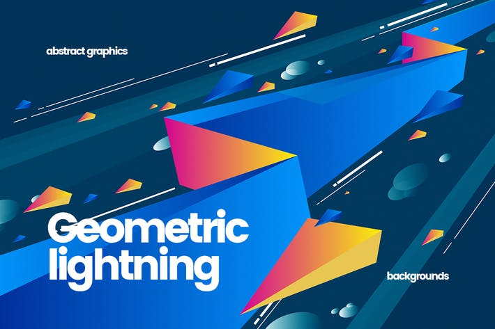 Thumbnail for Abstract Flat Geometric Lightning Backgrounds