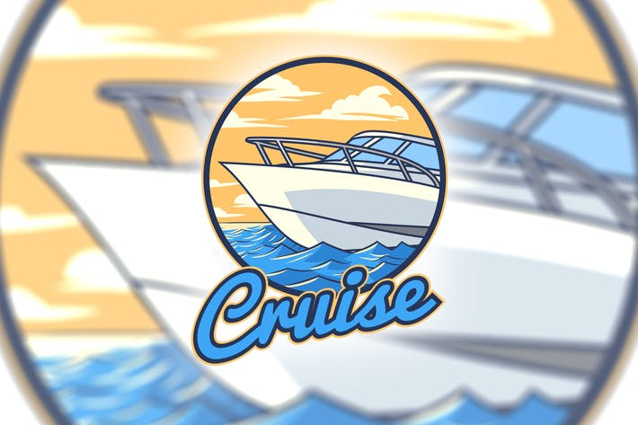 Thumbnail for Ocean Cruise Boat Logo