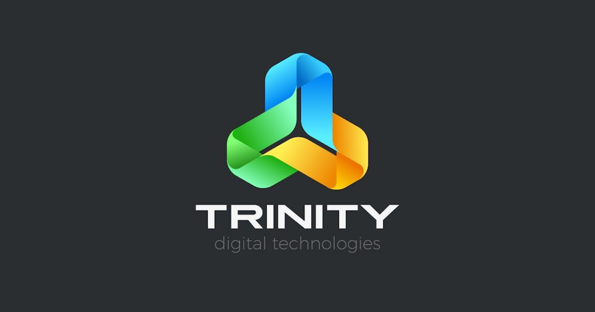 Logo Social Teamwork Triangle Trinity Ribbon Loop by Sentavio