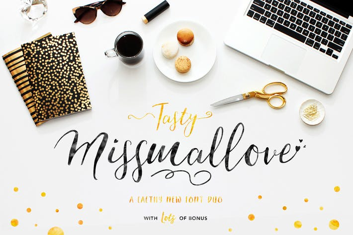 Thumbnail for Its Tasty Missmallove Font Duo