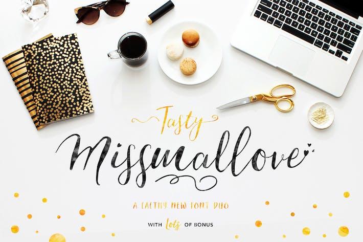 Thumbnail for Sein leckeres Missmallove Font Duo