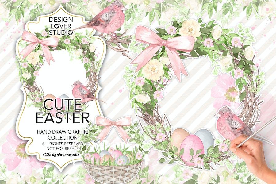 Watercolor Cute Easter design