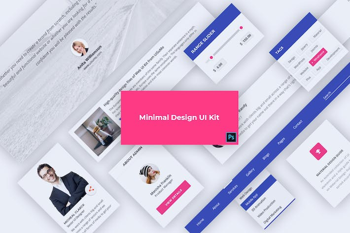 Thumbnail for Material Design Web UI Kit