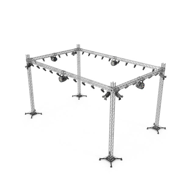 Stage Truss With Lighting
