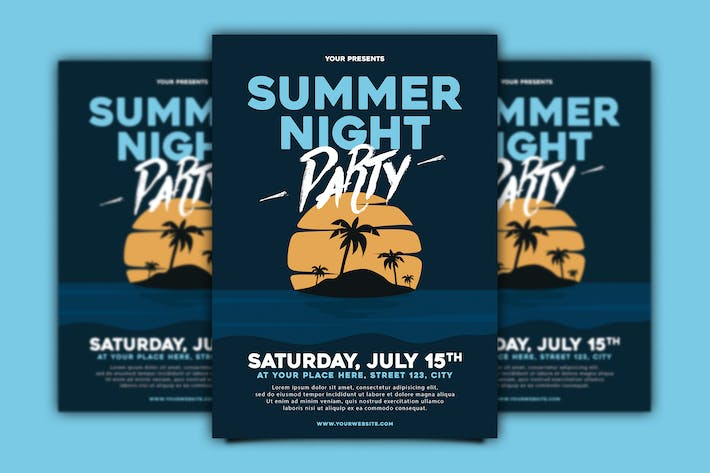 Thumbnail for Summer Night Party Flyer