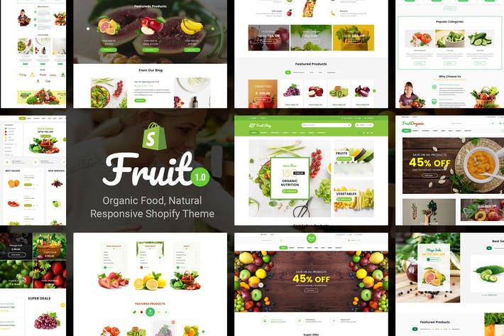 Thumbnail for Fruit Shop - Organic Food, Natural Shopify Theme