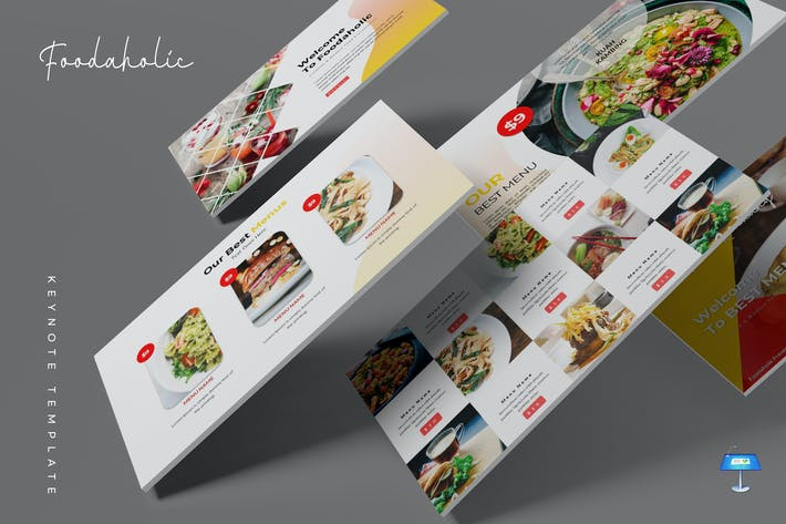 Thumbnail for Foodaholic - Keynote Template