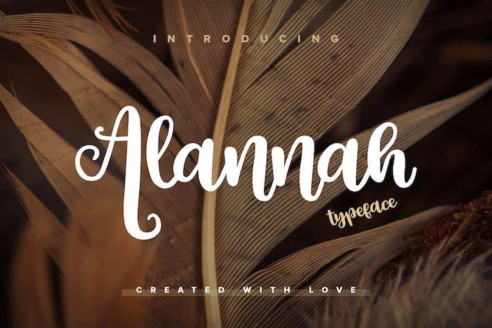 Thumbnail for Alannah Script Font