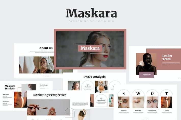 Maskara - Beauty Powerpoint Template