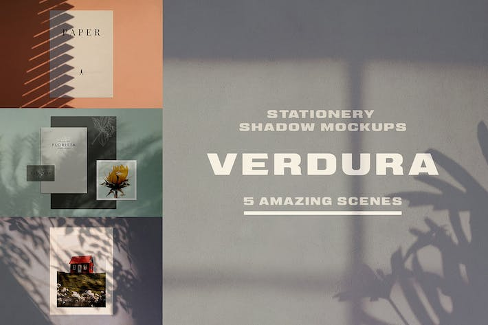 Thumbnail for Verdura Stationery Shadow Mockups