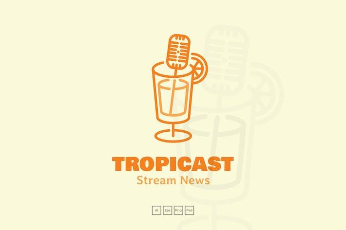 Thumbnail for Podcast Radio Summer Cocktail Logo