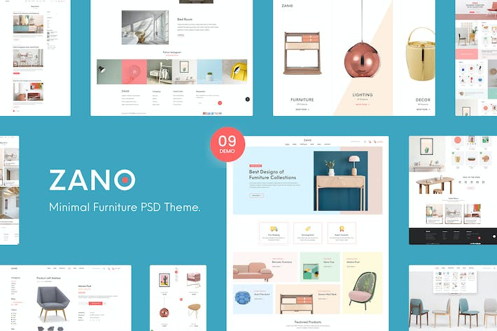 Thumbnail for Zano   Furniture eCommerce PSD Template