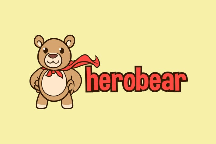 Thumbnail for Hero Bear - Stuffed Bear Character Mascot Logo