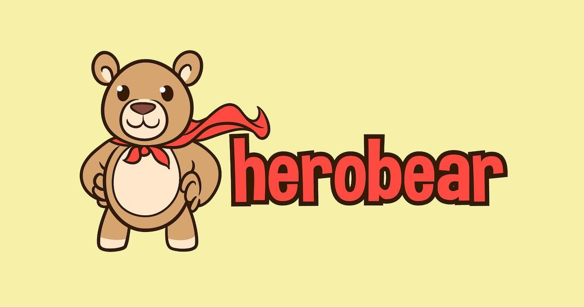 Download Hero Bear - Stuffed Bear Character Mascot Logo by Suhandi