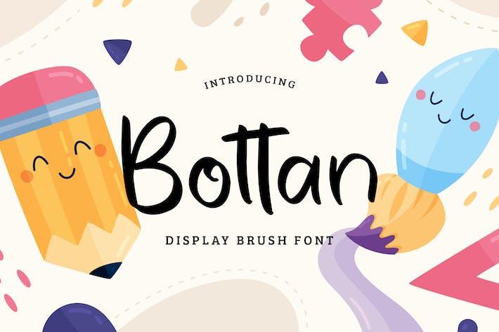 Bottan Display Brush Font
