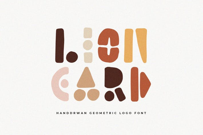 Thumbnail for Lion Card | Handmade Geometric Font