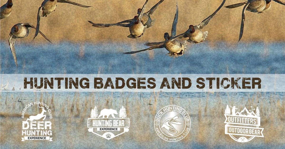 Download Hunting Badges and Logos by shazidesigns