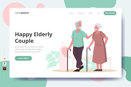 Happy Elderly Couple - Landing Page